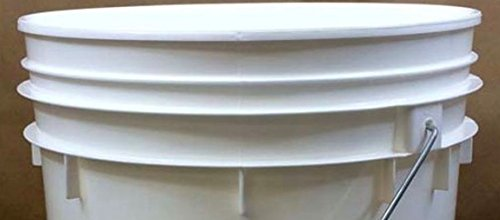 6 Gallon Premium Grade White Plastic Bucket 3 Pack by BayTec (Image #2)