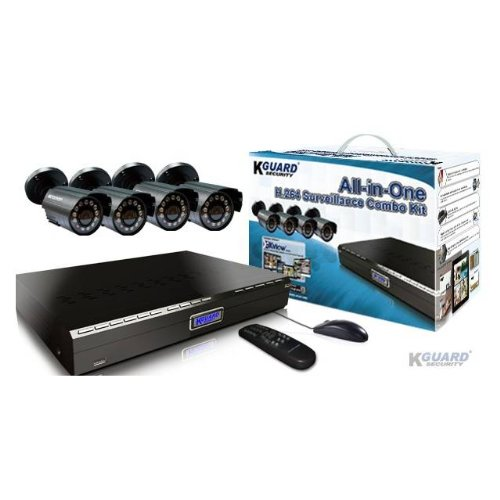 - Kguard Security BR401-4CW154M All-in-One 4-Channel H.264 DVR Surveillance Combo Kit w/ 4 CMOS