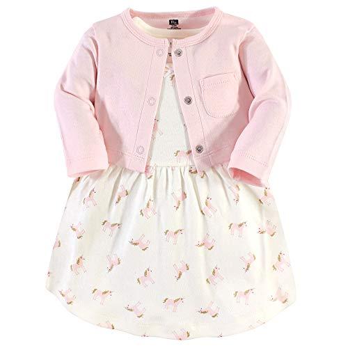 Hudson Baby Girls' Cotton Dress and Cardigan Set