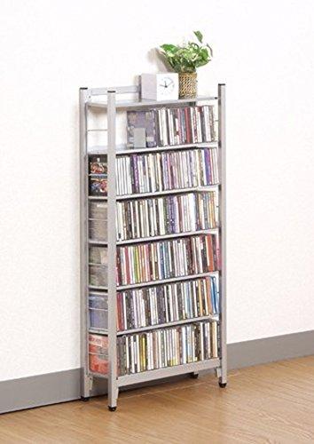 スチール製 CD ラック ハーフタイプ 47.5幅 sei-sr-45ch   B00515KTOG