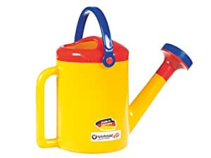 Spielstabil Classic Yellow Watering Can with 2 Sturdy Handles for Ages 18 Months and Up - Holds 1 Liter (Made in Germany)