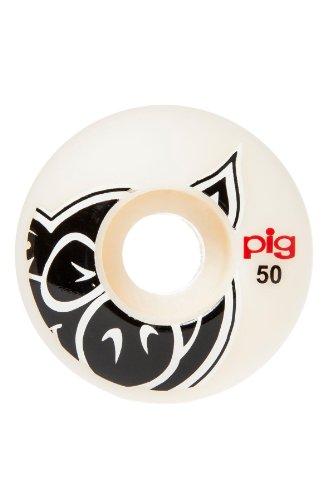 飢え松明ゴムPig Wheels 50 mm Pig Head Naturalホイール