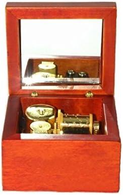 caja de música de madera de cuerda con el movimiento de oro en, jugar lilium de elfen lied canción: Amazon.es: Hogar