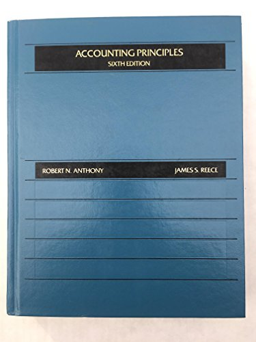 Accounting Principles (The Robert N. Anthony/Willard J. Graham series in accounting)
