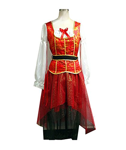 Adult Women Costume Pirate Captain (L) HC-058 (Adult Female Pirate Costume)