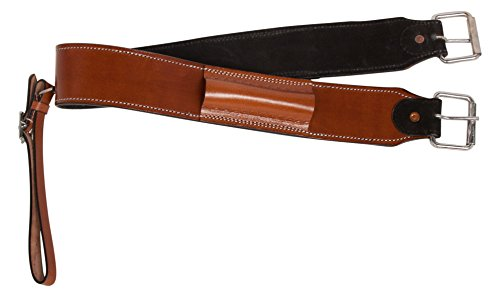 AceRugs Western Horse Saddle Back CINCHES Smooth Leather Sienna Chestnut Bucking Strap GIRTHS Billet Keepers (Horse) ()
