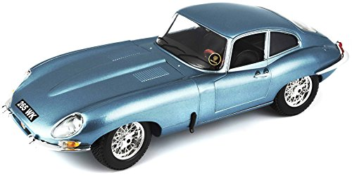 Bburago 1961 Jaguar E Type Coupe Diecast Model Die Cast Car (1:18 Scale), Red