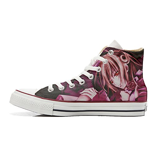 Chaussures Converse All Star Custom High (chaussures Artisanales) Manga