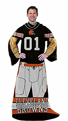 NFL Cleveland Browns Full Body Player Adult Comfy Throw, 48
