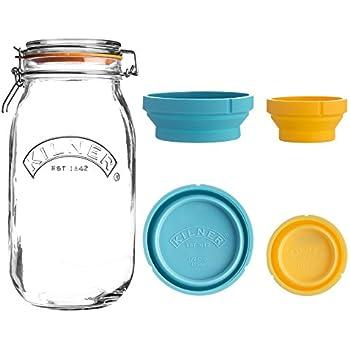 Amazon.com: Kilner recipiente de almacenamiento de vidrio ...