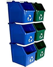 Busch Systems 6 Pack Multi Recycler with Recycling Logo - Blue | Green