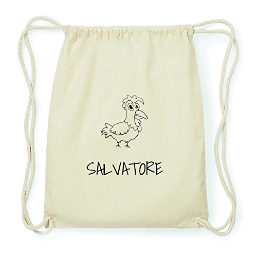 JOllipets SALVATORE Hipster Turnbeutel Tasche Rucksack aus Baumwolle Design: Hahn