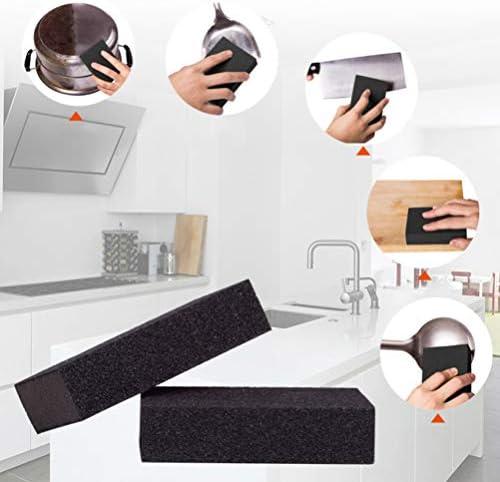 Yardwe 5ピースナノクリーニングスポンジカーボランダムクリーニングスポンジ錆除去剤消しゴム精練パッドキッチン家庭用