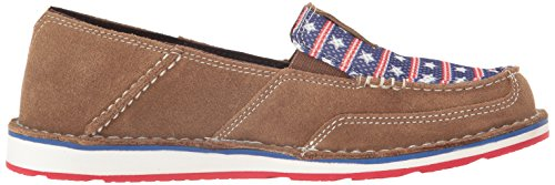 Ariat Womens Cruiser Slip-on Scarpa In Pelle Scamosciata Marrone Chiaro