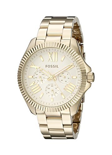 Fossil Women's AM4570 Cecile Gold-Tone Stainless Steel Watch