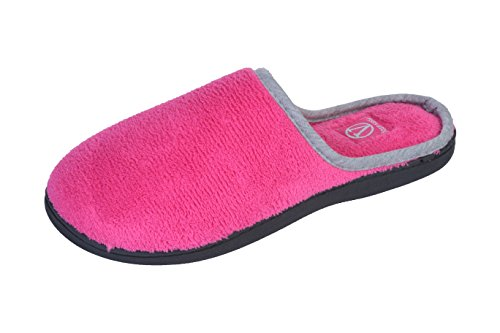 joan-vass-womens-contrast-color-trimmed-terry-scuff-house-slipper-x-large-9-10-bmm-us-hot-pink