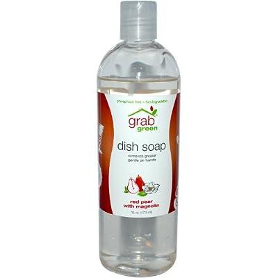 Grabgreen Liquid Dish Soap, 16 Ounce (Pack of 2)