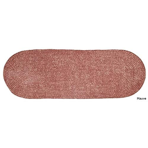 MISC 2' x 9' Pink Braided Rug Chenille Oval Area Rug Knitting Texture Rust Floor Carpet Indoor/Outdoor Tweed Jute Rug Runner for Living Room Kitchen Lounge Casual Style Reversible Handmade, Polyester