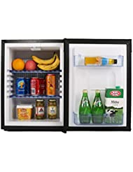 SMETA Compact Gas Refrigerator Fridge Reversible Door 12V/110V/LPG Absorption Low Noise Hotel Bar Car Cooler,1.2 Cubic Feet