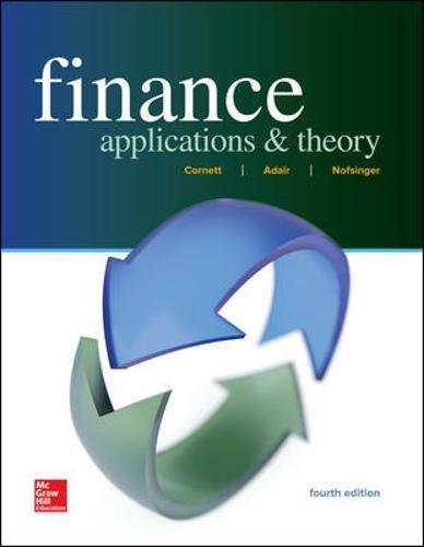 Finance: Applications and Theory (Mcgraw-hill / Irwin Series in Finance, Insurance and Real Estate)