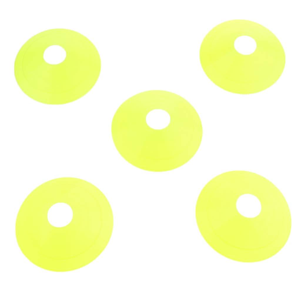 IPOTCH 5 Pedazo Conos de Agilidad Entrenamiento Cono de Mini Disco de Entrenamiento de f/útbol Rojo