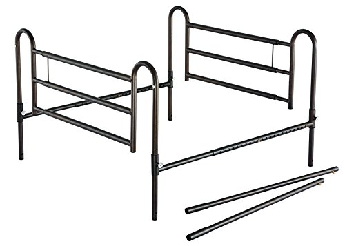 Essential Medical Supply Adjustable Home Bed Rails With Extender