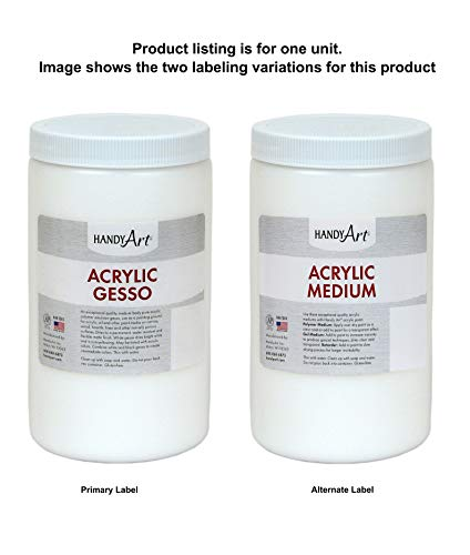 Handy Art Acrylic Gesso, 32 oz, White Medium (Best Gesso For Canvas)