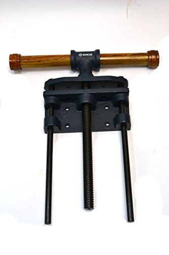 (GROZ 7-inch Woodworking Front Vise | Cast Iron | Wood Handle (39020))