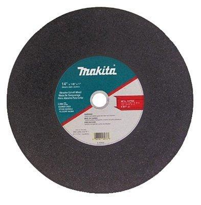 Cutter Inch Makita 14 - Ferrous Metal Abrasive Cut-Off Wheels, 14 in, 1 in Arbor, 3,800 rpm, Sold as 1 PK