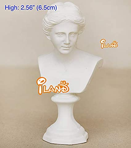 Dollhouse Miniature Resin Statue Venus Bust Sculpture White A4T6