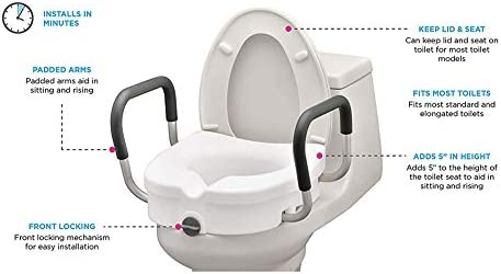 Marvelous Elevated Raised Toilet Seat With Removable Adjustable Gmtry Best Dining Table And Chair Ideas Images Gmtryco