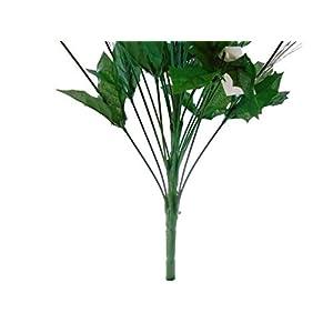 "Lime Christmas Poinsettia Bush 24 Artificial Silk Flowers 24"" Bouquet 030LIM 4"