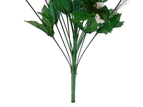 Lime-Christmas-Poinsettia-Bush-24-Artificial-Silk-Flowers-24-Bouquet-030LIM