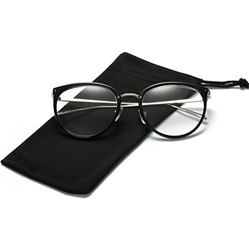 LKEYE Unisex Vintage Oversize Clear lens Round Eye Glasses LK5901