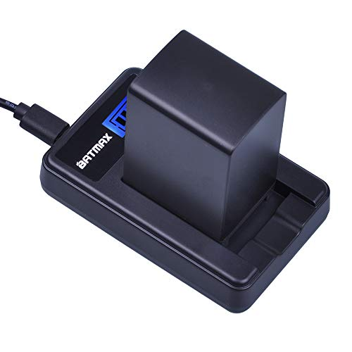 Batmax 1Pc 2900mAh BP-828 BP-820 Li-ion Rechargeable Battery + LCD USB Charger for Canon VIXIA GX10,HFG30,HFG40,XA10,XA11,XA35,XF400,XF405 Camcorders ()