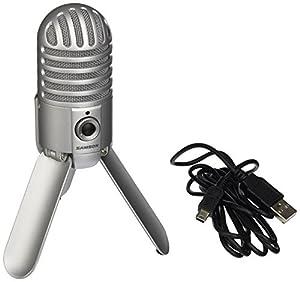 samson meteor mic usb studio microphone brushed nickel musical instruments. Black Bedroom Furniture Sets. Home Design Ideas