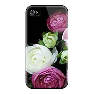 Durable Protector Case Cover With Flowers Hot Design For Iphone 4/4s
