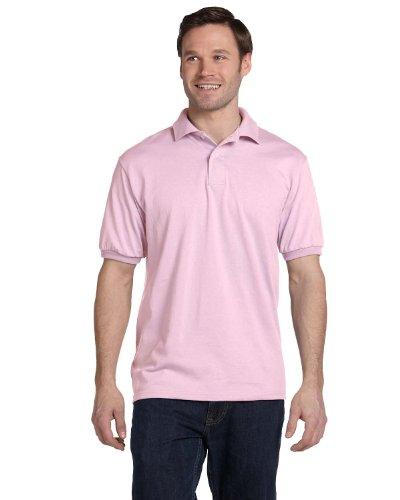 Hanes Men's EcoSmart Comfortsoft Blended Jersey Sport Polo Shirt