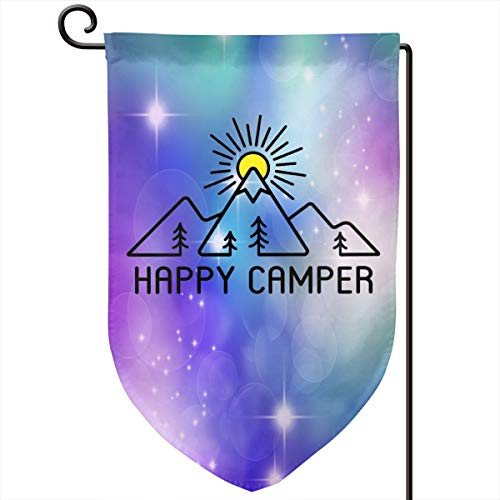 - Xuforget Outdoor Garden Happy Camper Flag Double-Sided Decorative Flag 12.5 X 18in