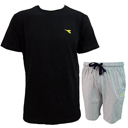 Manica Completo Cotone Beachwear Diadora In Uomo 71632 Mare Nero Art Mezza ptAwdP