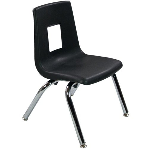 12'' Black Stackable School Chair (4 pack) by Advantage