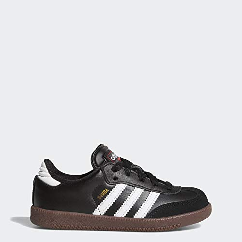 adidas Samba Classic Soccer Shoe, Black/White, 5 M US Big Kid (Size 5 Big Boys Shoes)