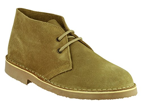Cotswold Mens Sahara Suede Leather Casual Supported Heel Desert Boots Camel