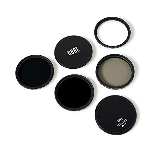Gobe 43mm UV, Circular Polarizing (CPL), ND8, ND1000 Lens Filter Kit (2Peak)