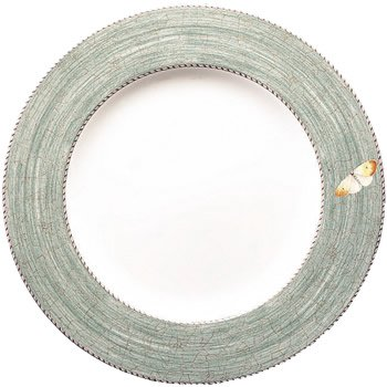 Wedgwood Sarah's Garden Fine Earthenware 10-3/4-Inch Dinner Plates, Set of 4, Green