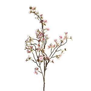 NszzJixo9 Artificial Cherry Peach Blossom - Bridal Bouquet Wedding Party Home Decor - Fake Silk Flower Home Wedding Party Floral Decor (B) 67