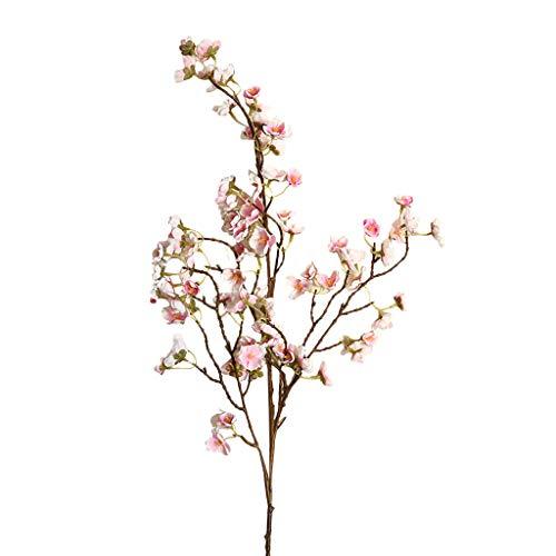 Muranba 2019 ! Artificial Cherry Peach Blossom Fake Silk Flower Home Wedding Party Floral Decor (B) (Wall Blossom Light Cherry)