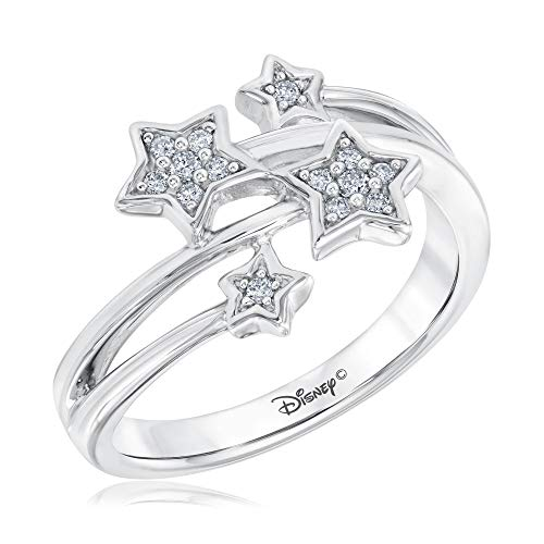 Disney Enchanted Fine Jewelry Tinkerbell's Diamond Ring 1/10ctw - Size 5.5]()