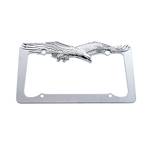 Chrome Flying Eagle License Plate Frame