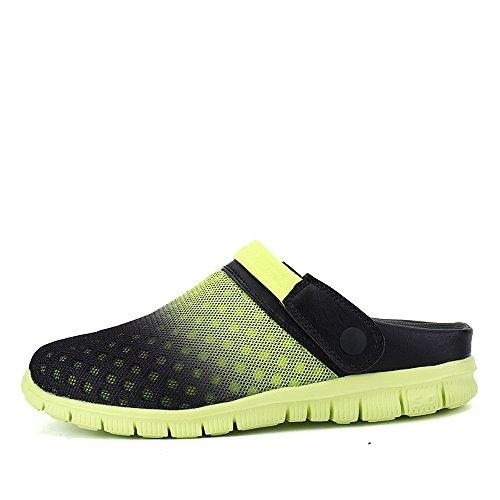Bwiv Herren/ Damen Clogs Hausschuh Badeschuhe Gartenschuhe Umweltfreundlich Leicht EVA Sohle Mit Wasserdicht Schuhe Tasche Grün